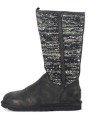 8b77d146aea UGG Camaya Metallic Knit Boot in Gray - Lyst