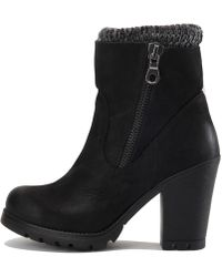 35aae57cdfd Steve Madden - Womens Sweaterr Leather Closed Toe Ankle Platform Boots -  Lyst