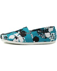 TOMS   Classic Blue Black Canvas Printed Tropical   Lyst