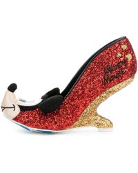 Irregular Choice - Mickey Mouse & Friends Collection Oh Boy! Red Heel - Lyst