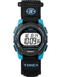 Timex - Watch Unisex Expedition Digital 33mm Fabric Fastwrap Blue/black/digital - Lyst