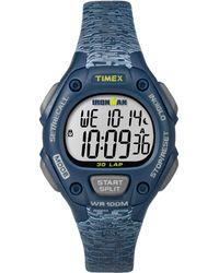 Timex - Watch Ironman Classic 30 Mid-size Resin Strap Blue/digital - Lyst