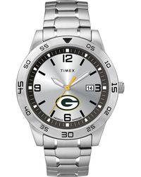 Timex - Watch Citation Green Bay Packers Silver-tone/silver-tone/silver-tone - Lyst