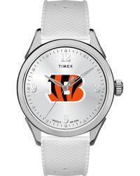 Timex - Watch Athena Cincinnati Bengals Silver-tone/white - Lyst