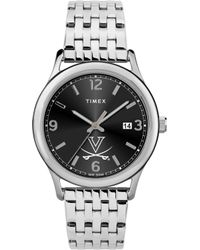 Timex - Watch Sage Virginia Cavaliers Silver-tone/stainless Steel/black - Lyst