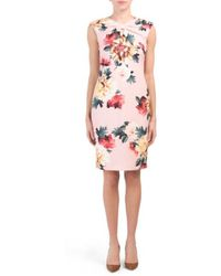 b7c2e88f1590 Tj Maxx - Floral Printed Crepe Sheath Dress - Lyst