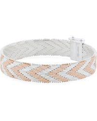 Tj Maxx - Made In Italy 14k Rose Gold Plated Sterling Silver Bracelet - Lyst