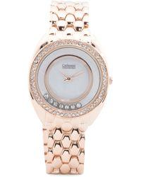 Tj Maxx - Women's Crystal Halo Rose Gold-tone Bracelet Watch - Lyst