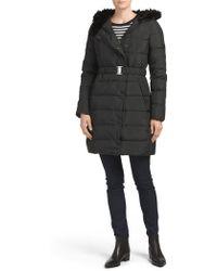 Tj Maxx - Roma Coat With Faux Fur - Lyst