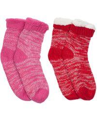 Tj Maxx - 2pk Marled Slipper Socks - Lyst