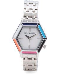 Tj Maxx - Women's Multi Color Enamel Bezel Bracelet Watch - Lyst