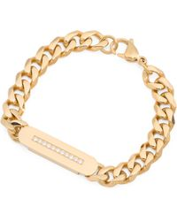 Tj Maxx - Men's Id Curb Chain Bracelet With Crystal Accents - Lyst