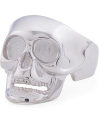 Tj Maxx - Made In Italy Sterling Silver Cubic Zirconia Skull Ring - Lyst
