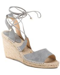 Tj Maxx - Made In Spain Lace Up Leather Wedges - Lyst