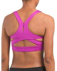 03aa58288e834 Lyst - Tj Maxx Mesh Molded Cup Sports Bra in Pink