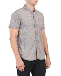Tj Maxx - Short Sleeve Acid Washed Neat Shirt - Lyst