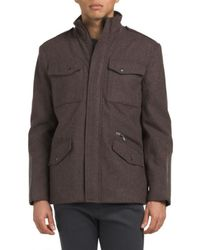 Tj Maxx - Wool Blend Single Breasted Coat - Lyst