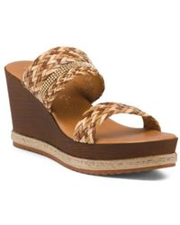 Tj Maxx - Made In Italy Weave Natural Wedges - Lyst