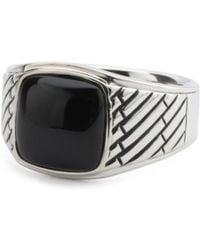 Tj Maxx - Men's Sterling Silver Genuine Onyx Signet Ring - Lyst