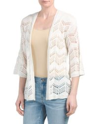 Tj Maxx - Open Chevron Stitch Cardigan - Lyst