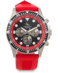 46868123a0d7 Tj Maxx - Men s Designed In Italy Typhoon Chrono Silicone Strap Watch - Lyst