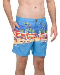 Tj Maxx - Digi Palm Print Swim Shorts - Lyst