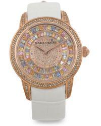 Tj Maxx   Women's Swiss Made Diamond And Sapphire Leather 38mm Watch   Lyst