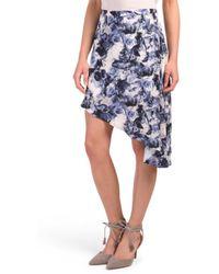 Tj Maxx - Printed Asymmetrical Flow Skirt - Lyst