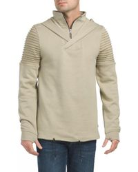 Tj Maxx - Crossover Moto Hoodie With Zipper - Lyst