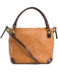Tj Maxx - Made In Italy Leather Embossed Shopper - Lyst