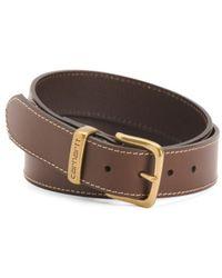 Tj Maxx - Men's Metal Logo Loop Leather Belt - Lyst