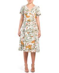e97f7609674bf Tj Maxx Jacquard V-neck Floral Dress - Lyst