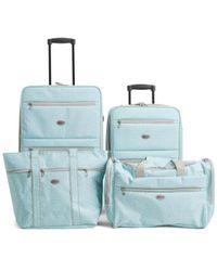Tj Maxx - 4pc Greek Key Rolling Luggage Set - Lyst