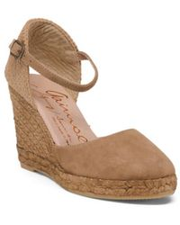 Tj Maxx - Made In Spain Closed Toe Suede Wedges - Lyst