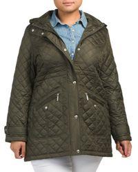 Tj Maxx - Plus Hooded Walker Coat - Lyst