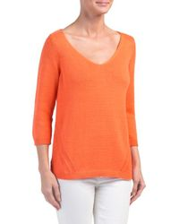 Tj Maxx | V-neck Sweater With Pointelle Detail | Lyst