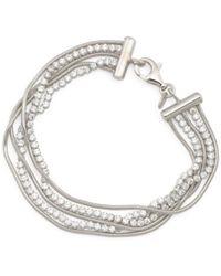 Tj Maxx - Made In Italy Sterling Silver Cz Wide Tennis Bracelet - Lyst