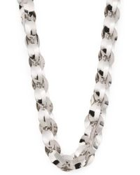 Tj Maxx - Made In Italy Rhodium Plated Bronze Wave Link Necklace - Lyst
