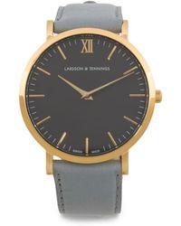 Tj Maxx - Swiss Made Lugano Classic Leather Strap Watch - Lyst