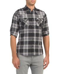 Tj Maxx - Roll Up Woven Shirt - Lyst