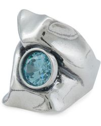Tj Maxx - Made In Israel Sterling Silver Aqua Zircon Ring - Lyst
