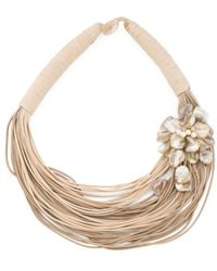 Tj Maxx - 50 Row Painted Shell Flower Necklace - Lyst
