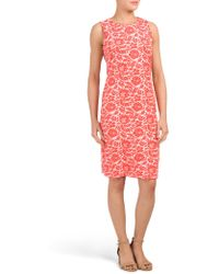 Tj Maxx - Printed Sophia Sheath Dress - Lyst
