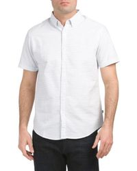 Tj Maxx - Striped Print Woven Shirt - Lyst