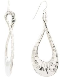 Tj Ma Made In Israel Sterling Silver Hammered Teardrop Earrings Lyst