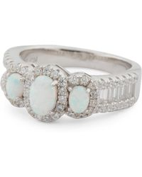Tj Maxx - Sterling Silver Opal And Cz Ring - Lyst