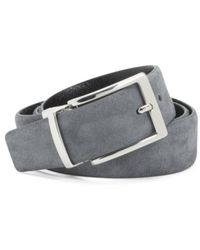 Tj Maxx - Made In Italy Suede & Leather Reversible Belt - Lyst