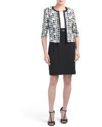 Tj Maxx - Petite Houndstooth Jacket Dress Suit - Lyst