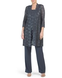 Tj Maxx - Made In Usa Lace Midi Jacket Pantsuit - Lyst