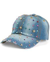 Tj Maxx - Distressed Denim Baseball Cap - Lyst